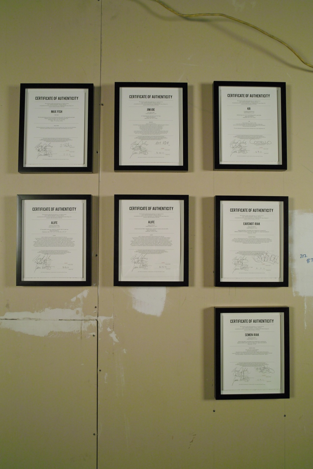 Private Property Certificates of Authenticity