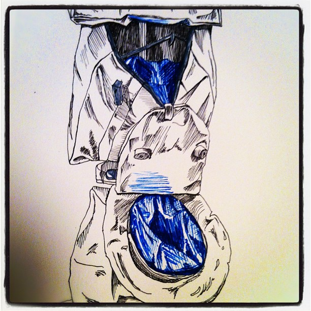 * ©Rob, Soft Toilet, 2011. Ink on Strathmore 400 series, 5.5 x 8.5 in. (14 x 21.6 cm) 60lb (Taken with instagram)