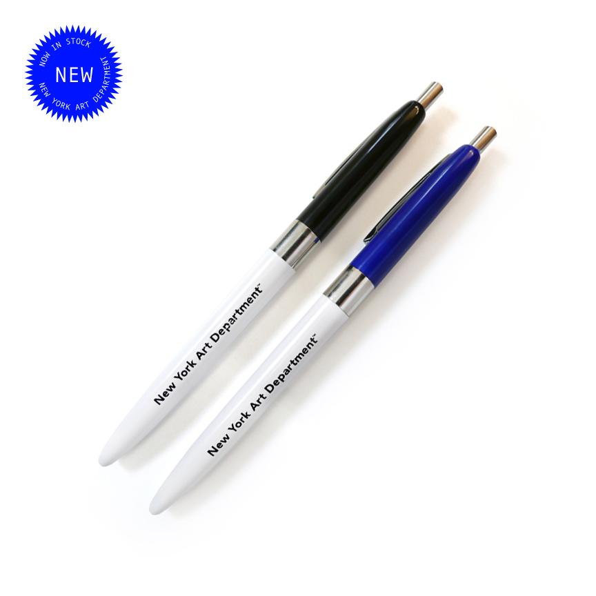 New York Art Department retractable ballpoint pens.  Now available.