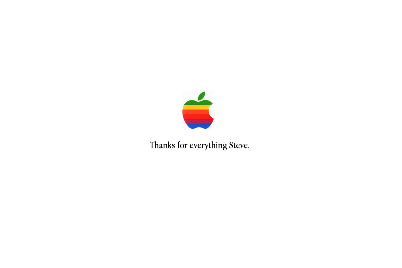 Steve Jobs 1955 - 2011. We'll stay thinking differently.