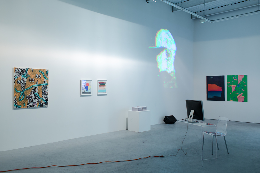 YOU ARE HERE: Installation View Left to right: Josh Reames, Trudy Benson, #BEENTRILL#, Rick Silva, Thomas Pregiato