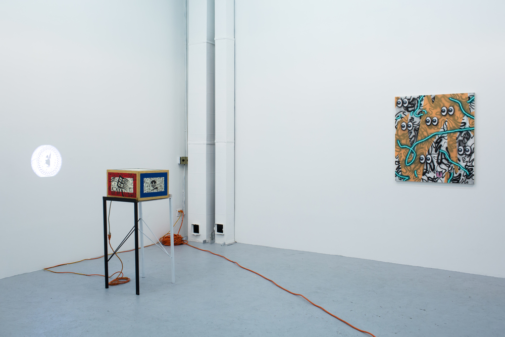 YOU ARE HERE: Installation View Left to right: Big Egypt 2020, Josh Reames