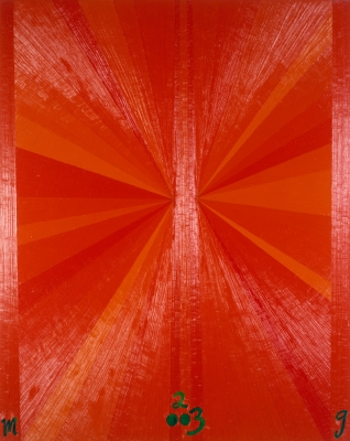 Untitled (Orange Butterfly Green M 2003 G), 2003