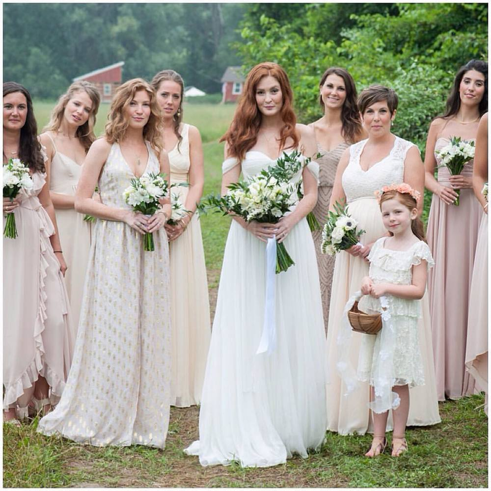 The perfect pretty girls!!! 💗💗💗 #realbride Sam in Natalie Bustier gown…and her gorgeous #bridesmaids abd #flowergirls Adore everything and the surroundings 🌿🍂🍁🌿 #bridalfashion #tatyanamerenyukbridal #whimsy #fashion #style #stylish #cute #tatyanamerenyukbridal #hair #beauty #beautiful #pretty #design #bridaldress #dress #wedding #weddingdress #bohochick #boho #whitedress #weddinginsporation #lace #о#bride #nycdesigner #brooklyndesigner #bridal #brooklynbride