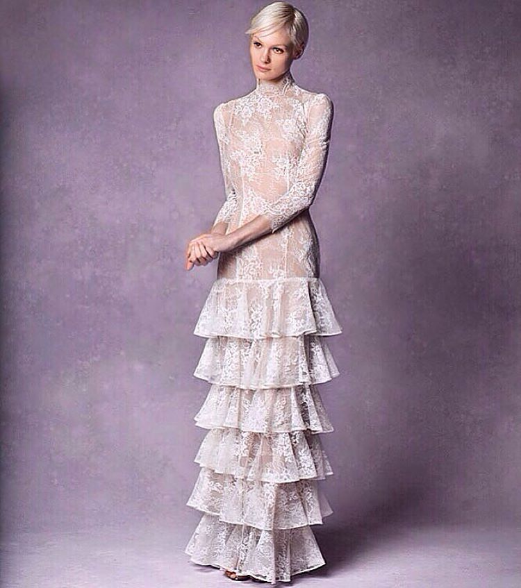 "Love my ""Farrow"" ruffled gown… Definitely for that fashion forward girl 💕💕💕, looks so good with veil… #bridalfashion #tatyanamerenyukbridal #whimsy #fashion #style #stylish #cute #tatyanamerenyukbridal #hair #beauty #beautiful #pretty #design #bridaldress #dress #wedding #weddingdress #bohochick #boho #whitedress #weddinginsporation #lace #bride #nycdesigner #brooklyndesigner #bridal #brooklynbride #bridalgown"