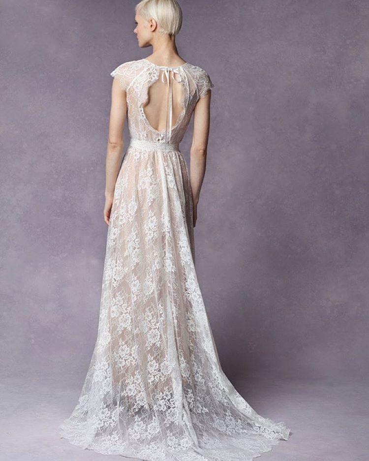 "Good morning! ""Sabine"" Gown sexy back 💗 i like! #tatyanamerenyuk #tatyanamerenyukbridal #whimsy #fashion #style #stylish #cute #tatyanamerenyukbridal #hair #beauty #beautiful #pretty #design #bridaldress #dress #wedding #weddingdress #bohochick #boho #whitedress #weddinginsporation #lace #о#bride #nycdesigner #brooklyndesigner #bridal #brooklynbride"