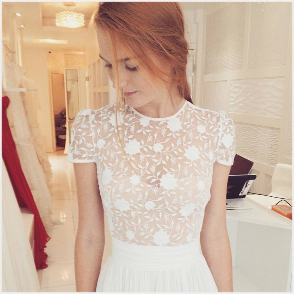 "hello gorgeous ""Emma"" top i think i love you! Thank you @ktinawelch for today you are perfection! 💗💗💗 so nice to have you by my side. #bridalmarket #whimsy #fashion #style #stylish #cute #tatyanamerenyukbridal #hair #beauty #beautiful #pretty #design #bridaldress #dress #wedding #weddingdress #bohochick #boho #whitedress #weddinginsporation #lace #о#bride #nycdesigner #brooklyndesigner #bridal #brooklynbride"