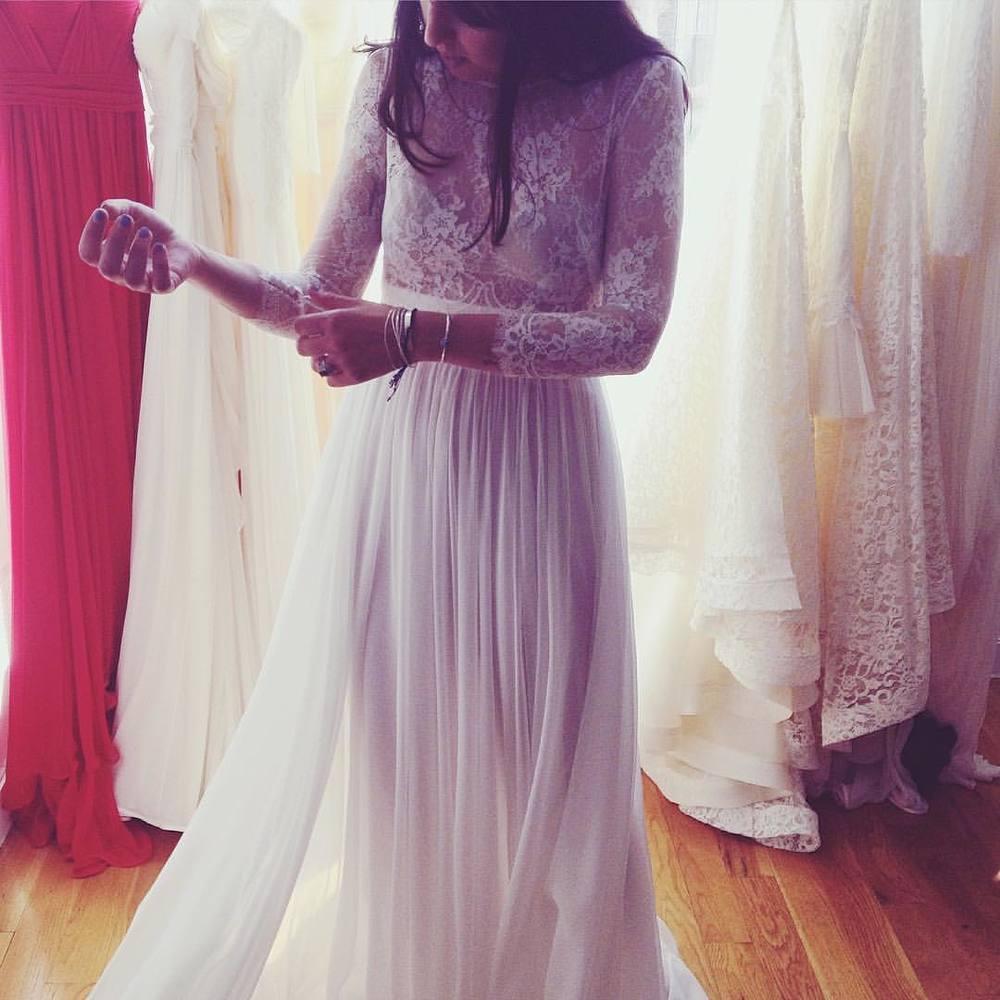 More loveliness with my girl 💕💕💕 chiffon skirts, lace, and that delicate sexy touch… Almost lookbook time, crunch time…Happy Friday! #tatyanamerenyuk #tatyanamerenyukbridal #fashion #style #stylish #cute #tatyanamerenyukbridal #hair #beauty #beautiful #pretty #design #bridaldress #dress #wedding #weddingdress #bohochick #boho #whitedress #weddinginsporation #lace #bohemianwedding #bride #nycdesigner #brooklyndesigner #bridal #brooklynbride