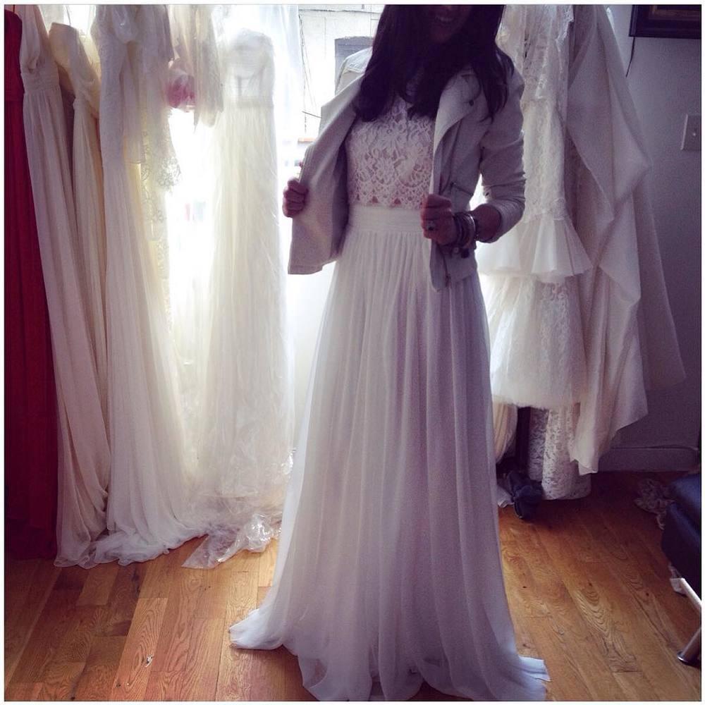 This bride though 🔥 got it going on… 2nd look oh yeah….#tatyanamerenyuk #tatyanamerenyukbridal #fashion #style #stylish #cute #tatyanamerenyukbridal #hair #beauty #beautiful #instagood #pretty #design #bridaldress #dress #wedding #weddingdress #bohochick #boho #whitedress #weddinginsporation #lace #bohemianwedding #bride #nycdesigner #bridal #nycbride