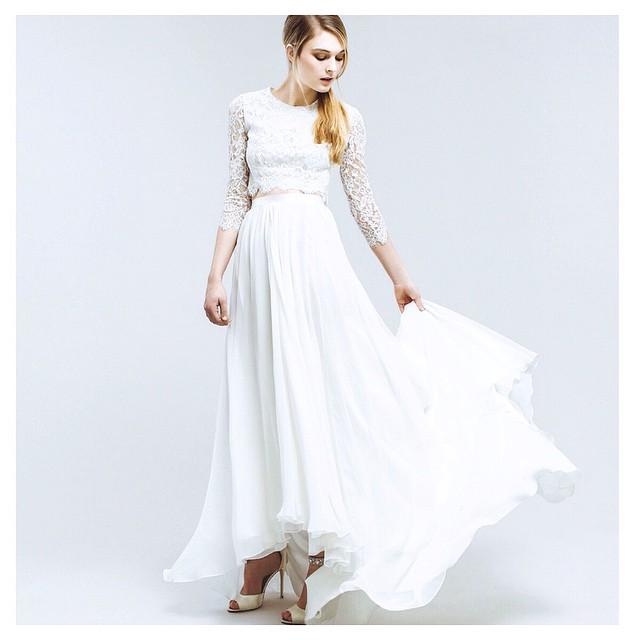 "Loving this…my ""Cara"" Silk two piece… 💕💕💕. Have a lovely sunny Saturday! #tatyanamerenyuk #tatyanamerenyukbridal #fashion #style #stylish #cute #tatyanamerenyukbridal #hair #beauty #beautiful #instagood #pretty #design #bridaldress #dress #wedding #weddingdress #bohochick #boho #whitedress #weddinginsporation #lace #bohemianwedding #bride #nycdesigner #californiabride #bridal #californiawedding"