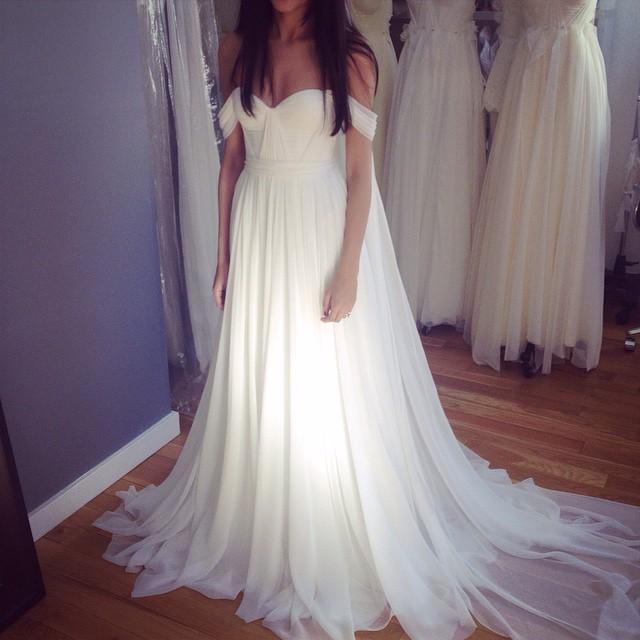 Stunning fittings this Saturday morning! ☀️ my bride is wearing the signature gown with matching silk chiffon veil…So Romantic! #tatyanamerenyuk #tatyanamerenyukdesigns #fashion #style #stylish #cute #photooftheday #hair #beauty #beautiful #instagood #pretty #design #model #dress #wedding #weddingdress #bohochick #boho #whitedress #weddinginsporation #lace #bohemianwedding #bride #nycdesigner #veil