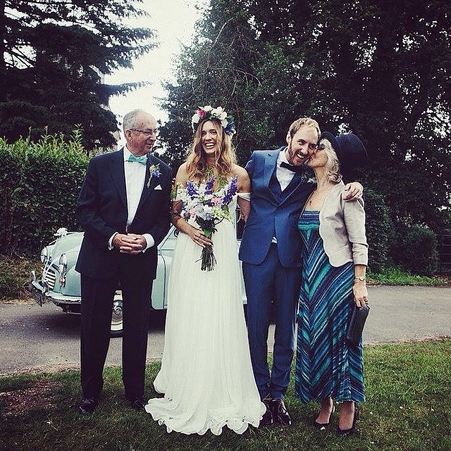Loving this gorgeous English family! How lovely is the bride in her custom gown…. Happy Friday! 💕 #tatyanamerenyuk #tatyanamerenyukdesigns #fashion #style #stylish #cute #photooftheday beautiful #instagood #pretty #design #dress #wedding #weddingdress #bohochick #boho #whitedress #weddinginsporation #lace #bohemianwedding #bride #nycdesigner