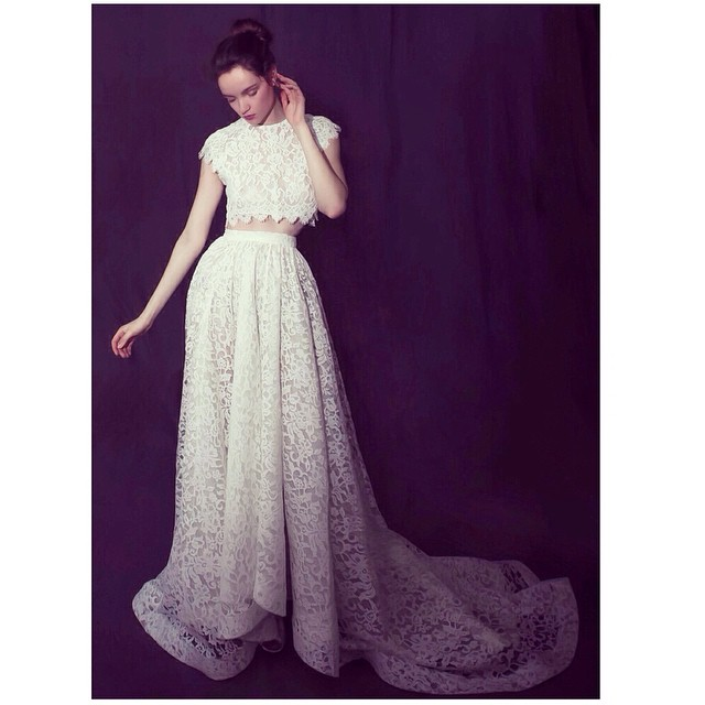 Happy Sunday! Loving this lace creation for your wedding day! Talk about a cool bride💕 #tatyanamerenyuk #tatyanamerenyukdesigns #fashion #style #stylish #cute #photooftheday #hair #beauty #beautiful #instagood #pretty #design #model #dress #wedding #weddingdress #bohochick #boho #whitedress #weddinginsporation #lace #bohemianwedding #bride #nycdesigner