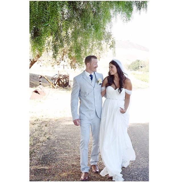 Nate and Nicole… In her custom gown looking oh so Beautiful! #tatyanamerenyuk #tatyanamerenyukbridal #bohobride #boho #bohemian #bohochick #bohemianwedding #wedding #weddingdress #weddinginspiration #bride #fashion #dress #whitedress #nycdesigner #bride #bridaldress #custom #california