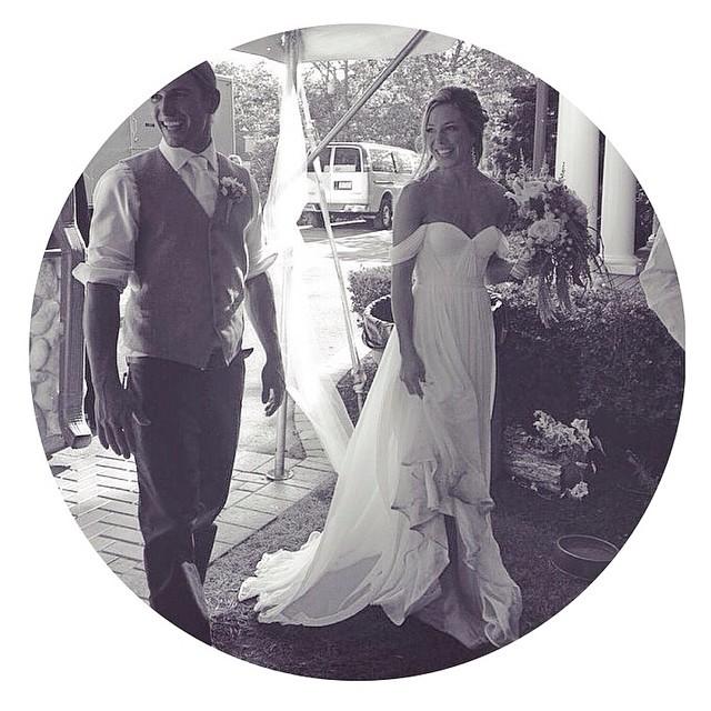 Love these two 💕 @sarahjeanbean @wherewatermelonsgrow in her custom gown, can't wait to get more images I this beautiful couple! #tatyanamerenyuk #tatyanamerenyukbridal #bohobride #boho #bohemian #bohochick #bohemianwedding #wedding #weddingdress #weddinginspiration #bride #fashion #dress #whitedress #nycdesigner