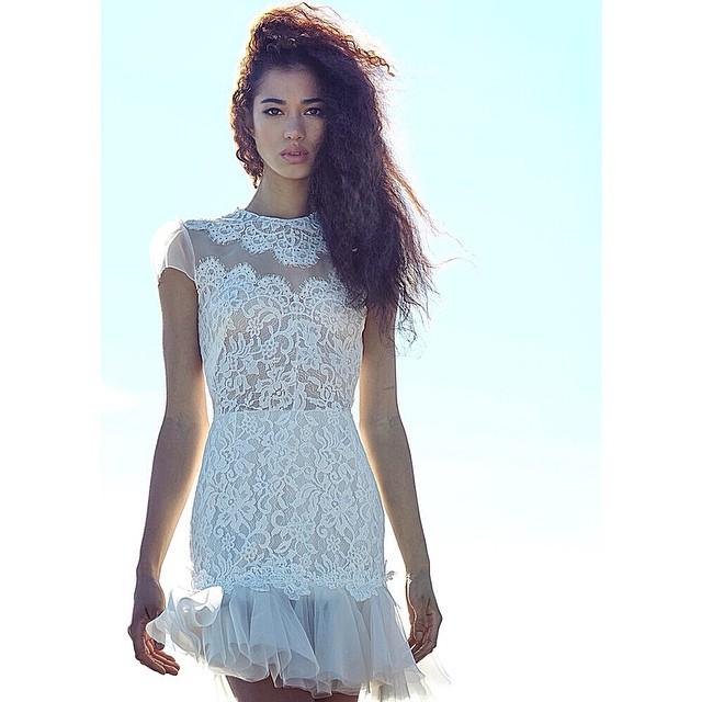 Love this newest lace addition…a mini #weddingdress 💕#tatyanamerenyuk #tatyanamerenyukbridal #wedding #weddinginspiration #whitedress #lacedress #boho #bohemian #bohochick #bohobride #dress #fashion #nycdesigner #photooftheday #instagood #beachbride #behemianwedding #beach