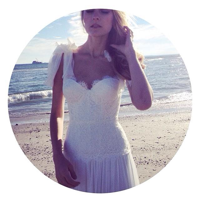 Loving this new lace bodice with the beautiful silk draped skirt. Newest addition. So flattering. #tatyanamerenyuk #tatyanamerenyukbridal #dress #fashion #nycdesigner #wedding #weddingdress #weddinginspiration #whitedress #boho #beach #bohobride #bohochick #bridaldress #beachwedding