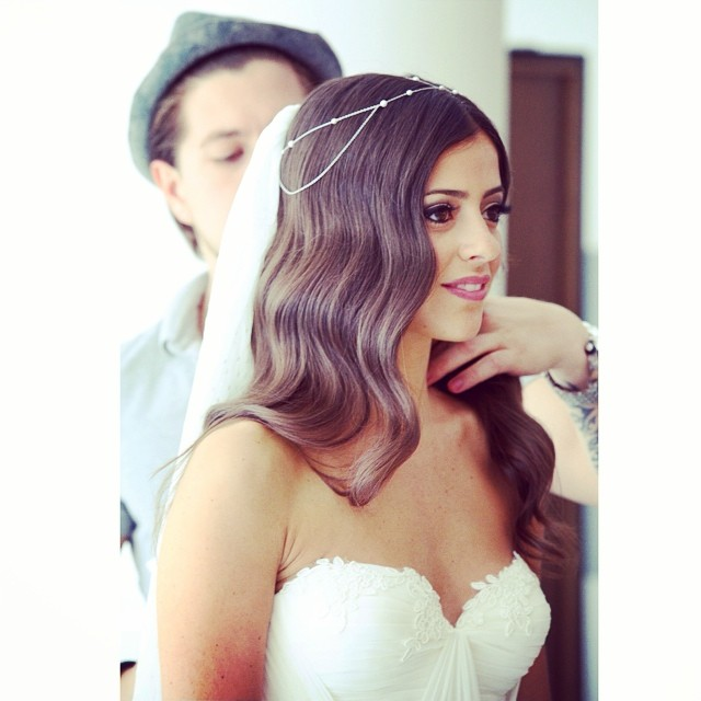 My beautiful client Rona! Wearing her custom gown with little touch of lace on the cups… Adore💘 #tatyanamerenyukbridal #bride #wedding #weddinginspiration #girl #pretty #bohobride #boho #hair #dress #fashion #whitedress