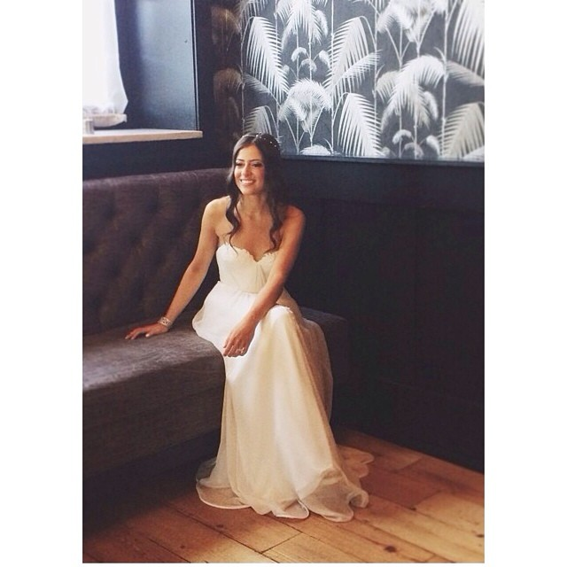 Repost from @jovemeyer of the Beautiful @rkushnir at @501union in Brooklyn. My gorgeous bride sitting oh so pretty in her custom #tatyanamerenyukbridal gown! #tatyanamerenyuk #bridalgown #bride #weddingdress #weddinginspiration #wedding #pretty #fashion #nycdesigner #bohobride #love #dress