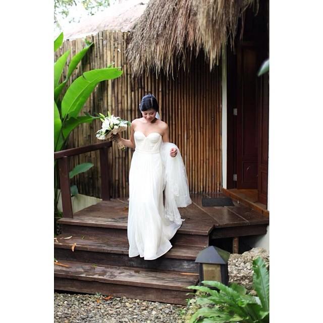 The beautiful Vanessa in her custom gown. So pretty! #wedding #weddingidea #weddingdress #weddingstyle #weddingfashion #weddinginspiration #dress #boho #bride #tatyanamerenyukbridal #fashion #nycdesigner #beautiful