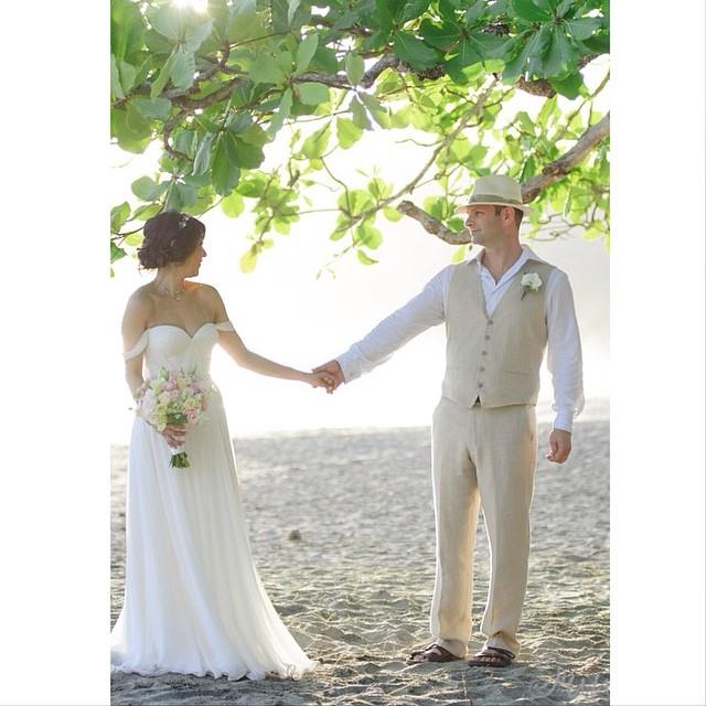 Beautiful Molly in her custom Gown with sleeves and sash…beautiful couple! #fashion #style #stylish #love #cute #photooftheday #beauty #beautiful #instagood #pretty #swag #design #dress #weddingdress #bohobride #boho #wedding #weddingidea #weddinginspiration #tatyanamerenyukbridal #bride #weddingdress #weddingstyle #weddingfashion
