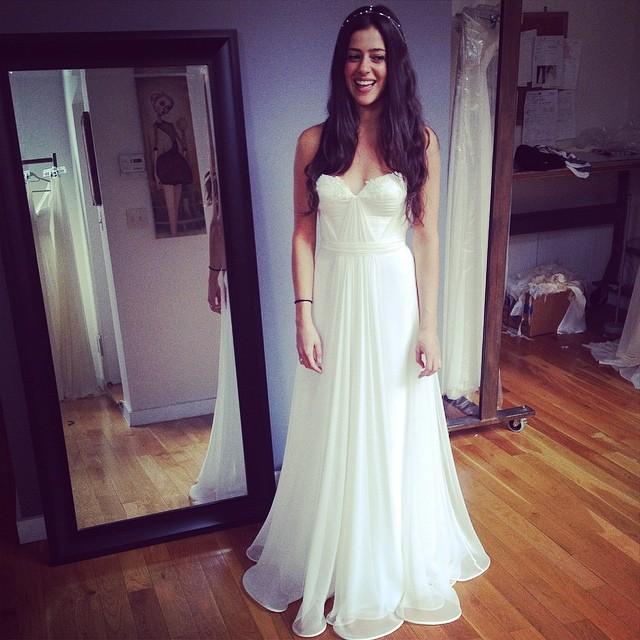 Final fitting success! The beautiful bride to be❤️ #weddingdress #tatyanamerenyuk #tatyanamerenyukbridal #tatyanamerenyukdesignes #dress #draping #boho #bride #bridal #beautiful #bridaldress #weddinginspiration #custom #fashion #nycdesigner