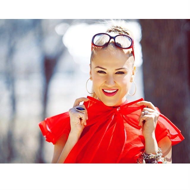 @helen_berkun in my signature Red Blouse. What a doll! #fashion #style #stylish #love #cute #photooftheday #beautiful #instagood #pretty #girl #design #styles #outfit #shopping #glam #tatyanamerenyuk #tatyanamerenyukdesignes #nycdesigner