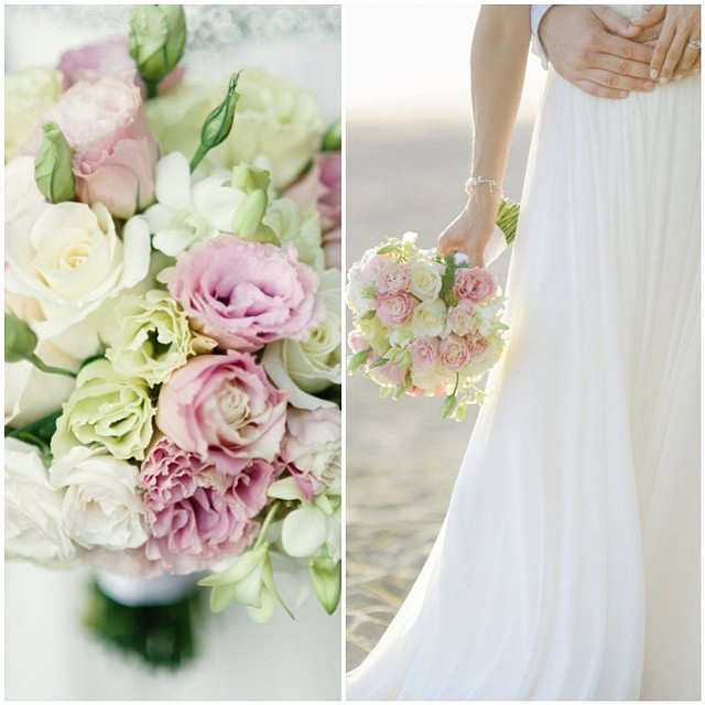 Happy Monday! Beautiful details from one of my clients…. Closeup of the beautifully draped skirt from my gown 🌸 flowers make some much magic! #wedding #weddinginspiration #weddingdress #tatyanamerenyukbridal #tatyanamerenyuk #tatyanamerenyukdesigns #flowers #beautiful #boho #bride #beachwedding