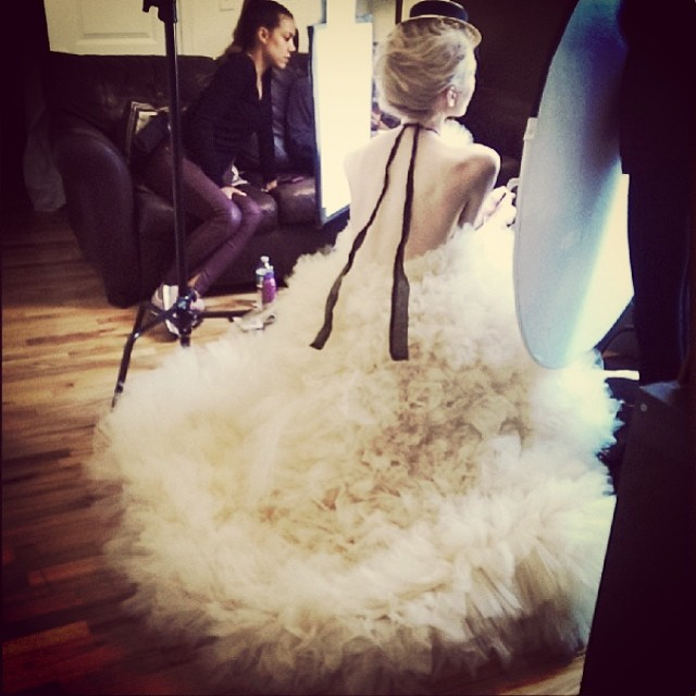 Repost from @maxminlp from a gorgeous shoot styles by @amiaserrano and the gorgeous model @jaminoel Can't wait to see the final product! Thanks for narrowing my designs! #tatyanamerenyuk #fashion #editorial #beautiful #beauty #nycdesigner #model #photooftheday #dress #tulle