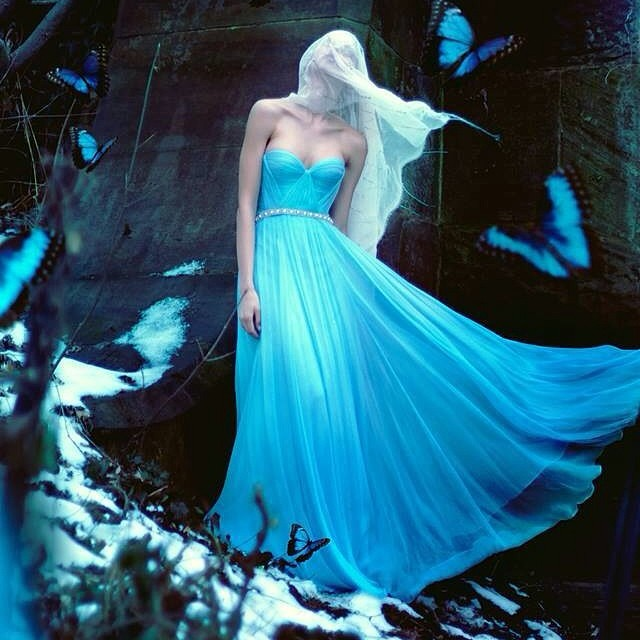 Gorgoues image by the super talented @orianamarie in my sky blue Gown, can't wait to see the rest and make more magic …. #fashion #tatyanamerenyuk #nycdesigner #pretty #model #editorial #dress #photooftheday #glam #silk #boho #fantasy