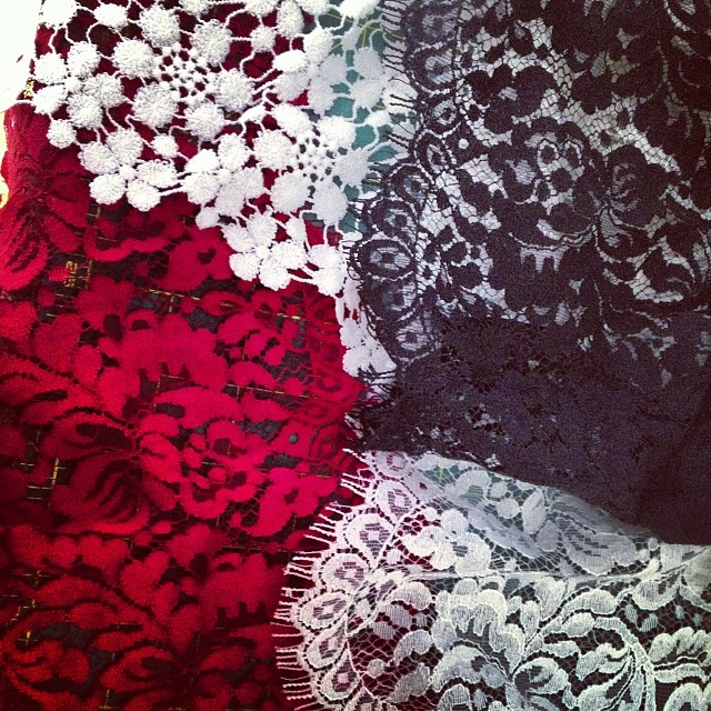 LACE! There is so much beauty going on this morning… This here is my weakness❤ #lace #nycdesigner #studio #reddollbytm #fashion #style #stylish #photooftheday #beautiful #instagood #pretty #design #model #dress
