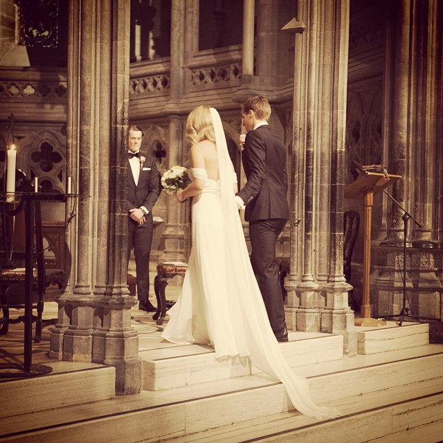 The gorgeous bride Pia and husband Hakon in Netherlands Church. Pia is wearing my gown with veil… So beautiful. #wedding #weddingdress #bride #reddollbytm #fashion #style #stylish #love #cute #photooftheday #beauty #beautiful #instagood #pretty #girl #design #dress