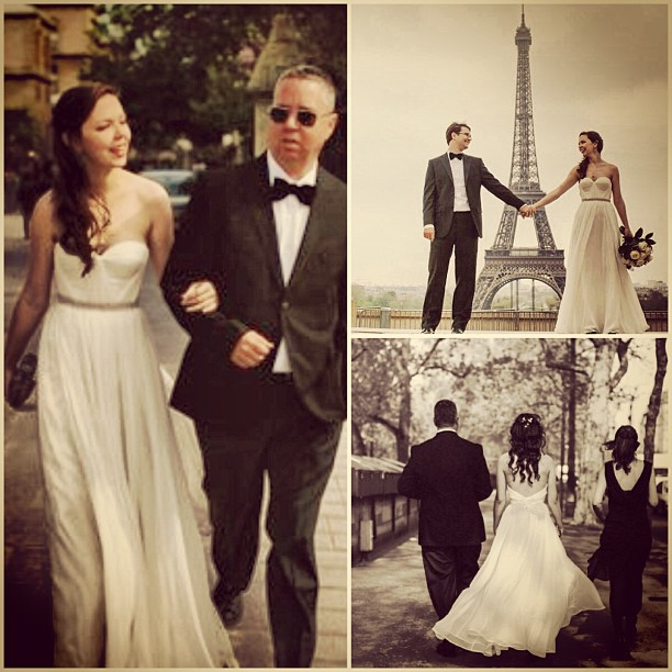 Ahh, how romantic is this! A client Abigail getting married in Paris! City of love❤ #wedding #bride #paris #weddingdress #romance #love