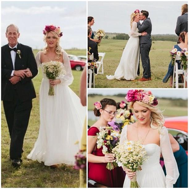 My gorgeous bride Rosie❤ oh how I love this! In Annie wedding gown with sleeves. #weddingdress #wedding #bride #dress #reddoll #reddollbytm #tatyanamerenyuk #pretty #romantic #flowers