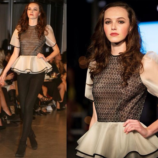 Gorgeous girl and top, one of my favorite looks! #whynfw #reddoll #tatyanamerenyuk #fashion