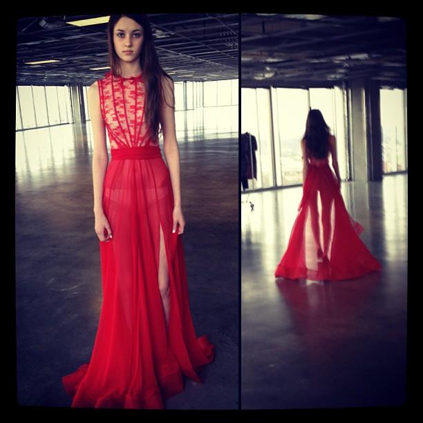 Fittings… One of my favorites…. #nfw #reddoll #reddollbytm