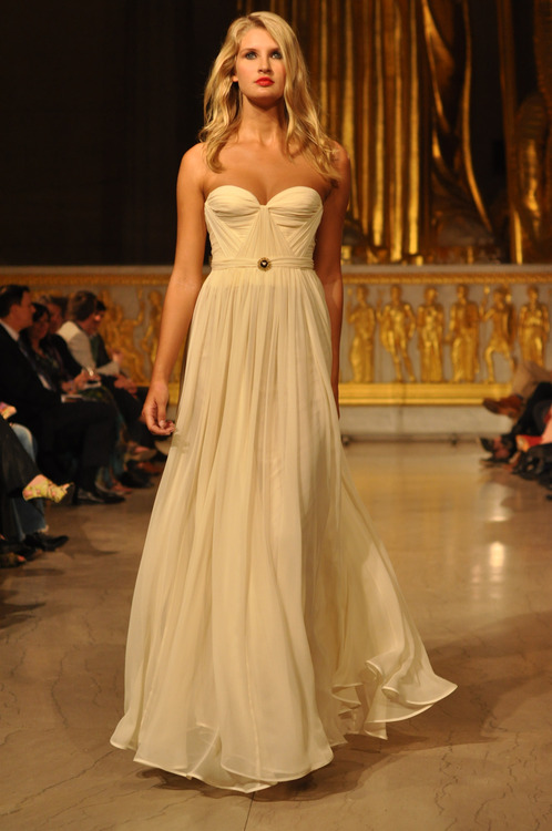 Annie Ivory Gown on the Runway