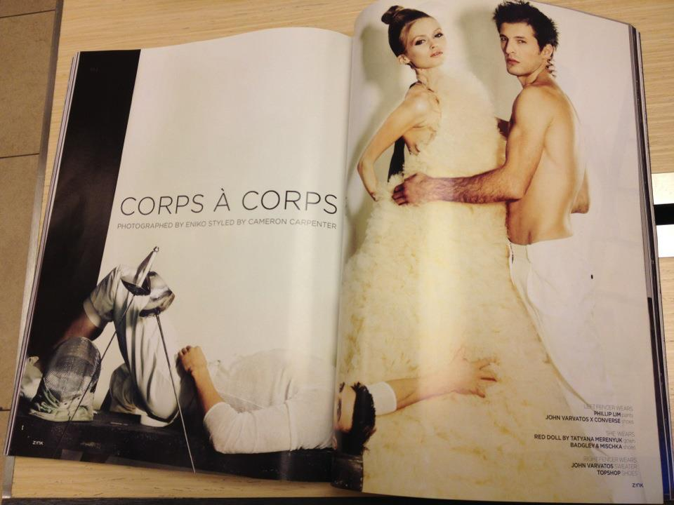 My dress is in the new ZINK issue! How cool, just picked mine up;) pretty cool. — with Cameron Carpenter.