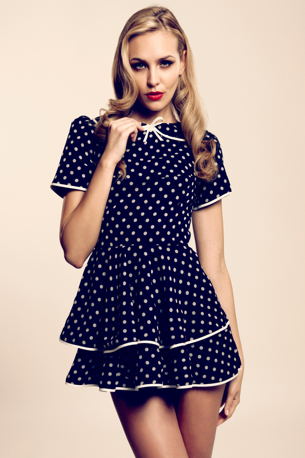 Summer 2012 New Collection Polka dot Layered Mini Dress~ So sexy! ©Tawfickphotography