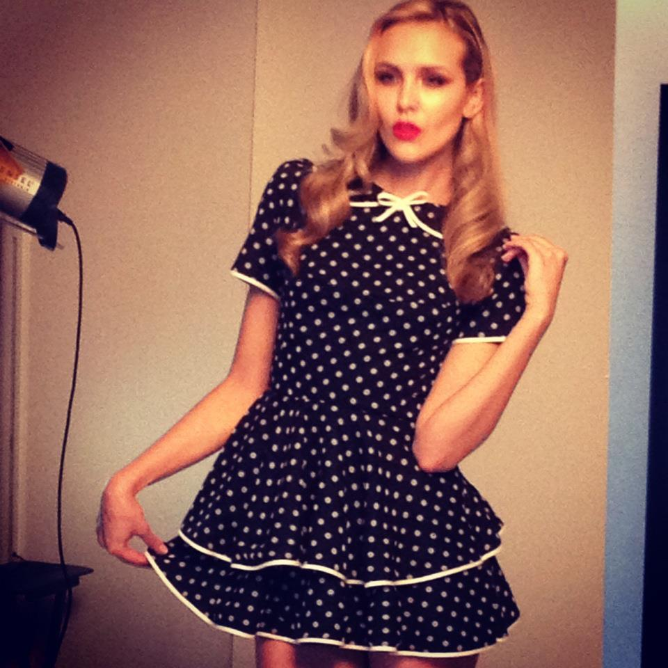 Silk Polka dot Baby Doll Dress by me~ another snap shoot of the shoot last night.