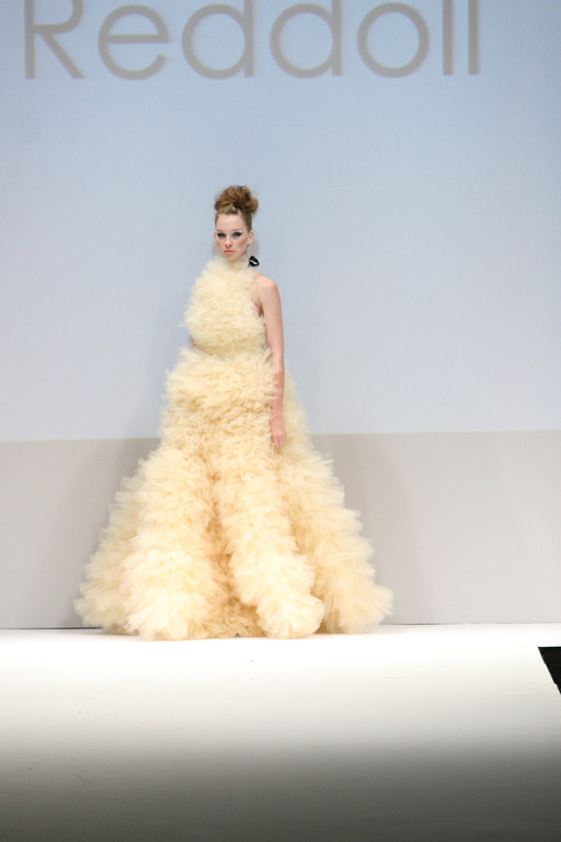 cloud dress, floating on the runway~