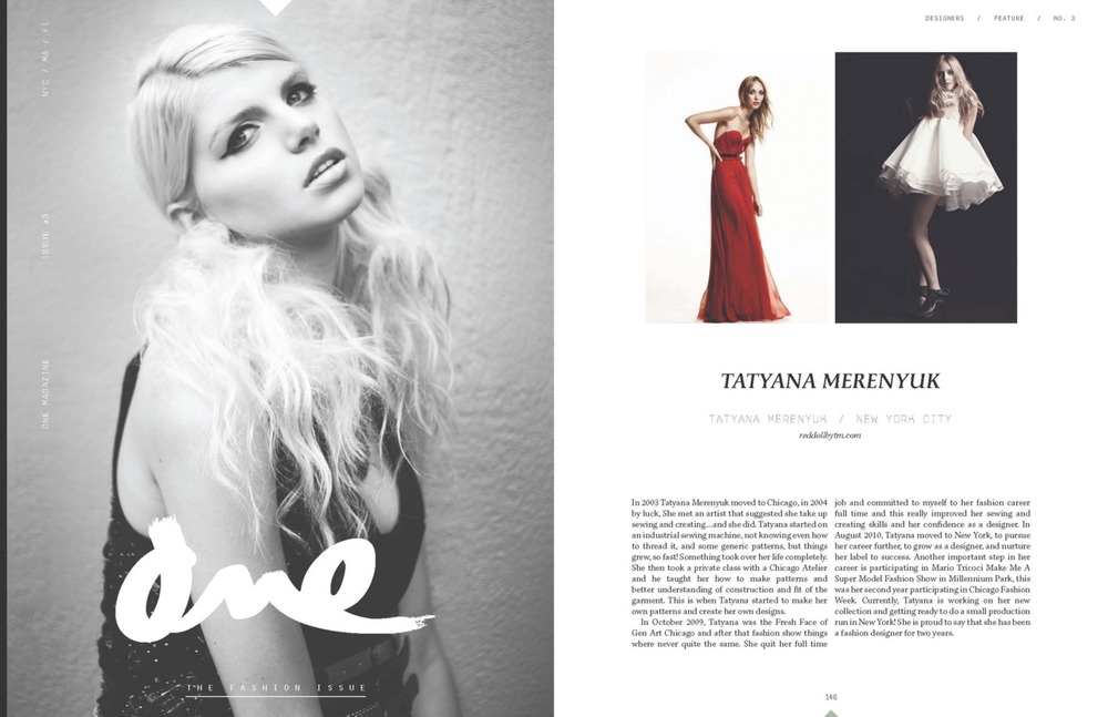 Featured on ONE Magazine~