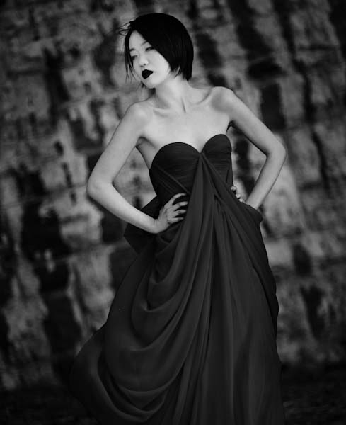 another beautiful picture by Marianna, dress by me~ photographer, Marianna Marisova model, Christy Ai make-up artist, Yelena T