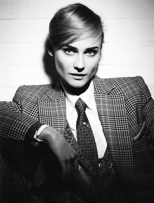 """An inspiration to me! girls-will-be-boys: Diane Kruger Photographer: Karl Lagerfeld Vogue Germany March 2010 """"Dandy Diane"""""""