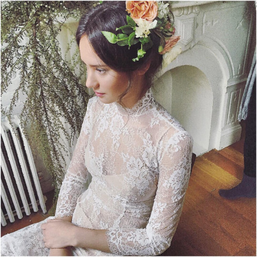 Sitting oh so pretty 💫more behind the scenes with one of my favorite looks farrow gown and those peach colored blooms perfection! #tatyanamerenyuk #fashion #style #stylish #cute #beautiful #instagood #pretty #design #dress #wedding #weddingdress #bohochick #boho #whitedress #weddinginsporation #bohobride #lace #bohemianwedding #bohemian #bride #nycdesigner #brooklynbride #bridalinspiration #bridaldress #whimsy