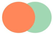 Orange + Mint Green