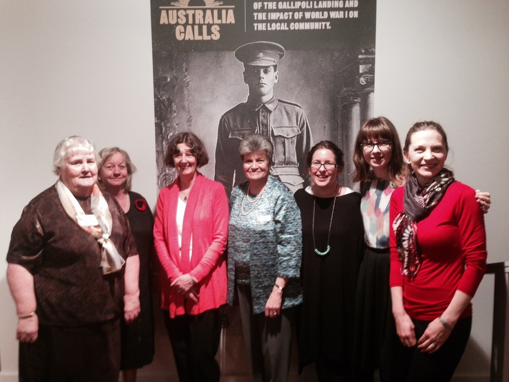 Way Back When  historians Sarah Rood, Fiona Poulton and Katherine Sheedy (far right) with local council and historical society members.