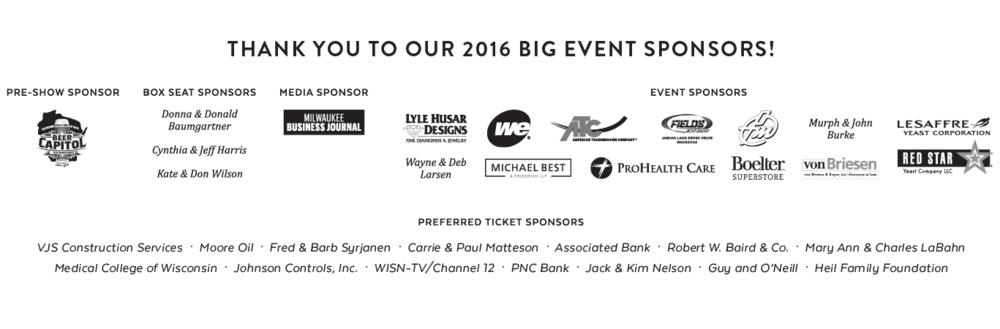 The BIg Event 2016 Sponsors