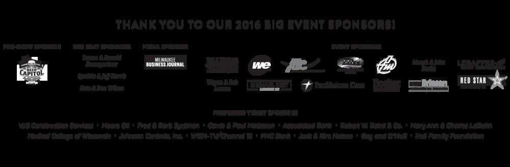 Big Event 2016 Sponsors