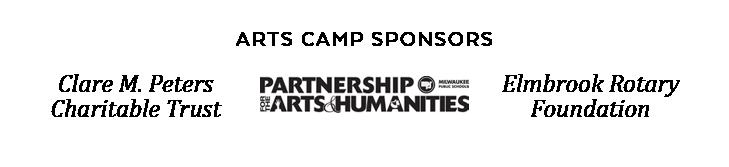 Arts Camp Sponsors